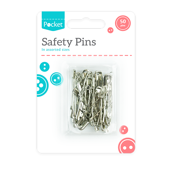 Assorted Safety Pins 50pk