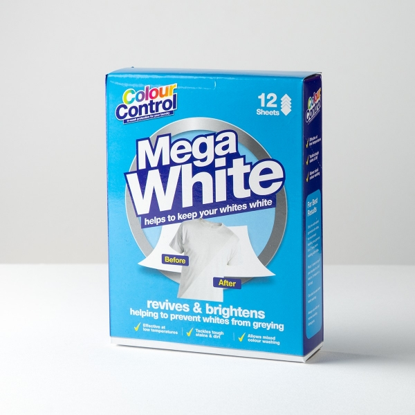 Mega White Colour Control Laundry Sheets 12pk