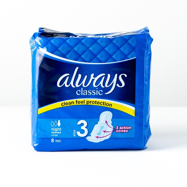 Always Classic Night Pads 8pk