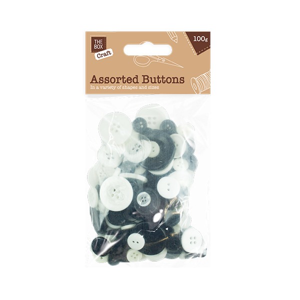 Assorted Craft Buttons - 100g [ARCHIVE]