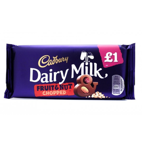 Cadbury Fruit and Nut 95g