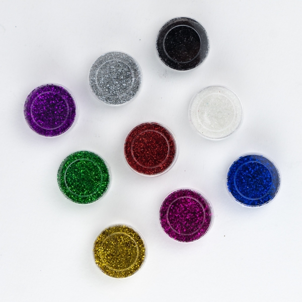 Craft Glitter in Assorted Colours 9pk