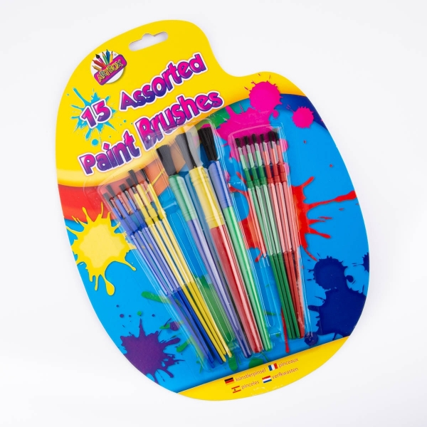 Assorted Paint Brushes 15pk
