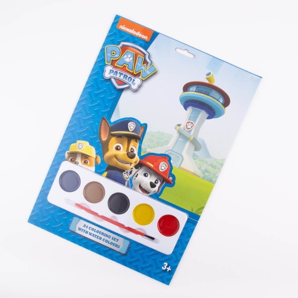 Paw Patrol Paint Colouring Set
