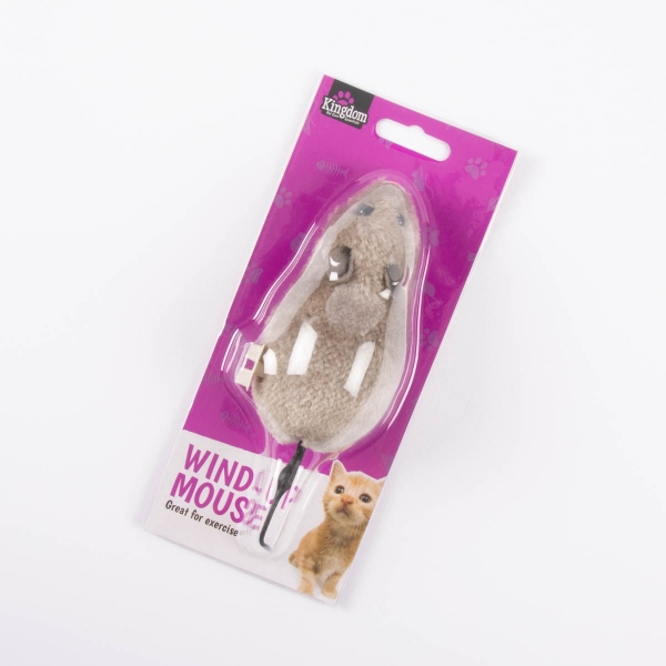 Wind-Up Mouse Cat Toy - Grey