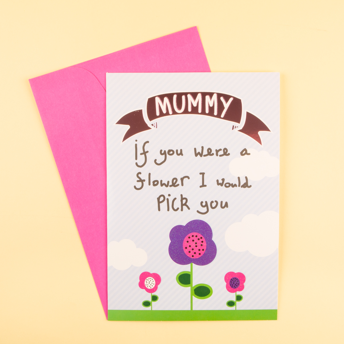 mother's day card  if you were a flower  cherryz