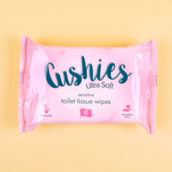 **NEW** Cushies Flushable Toilet Paper Wipes 42pk - Sensetive