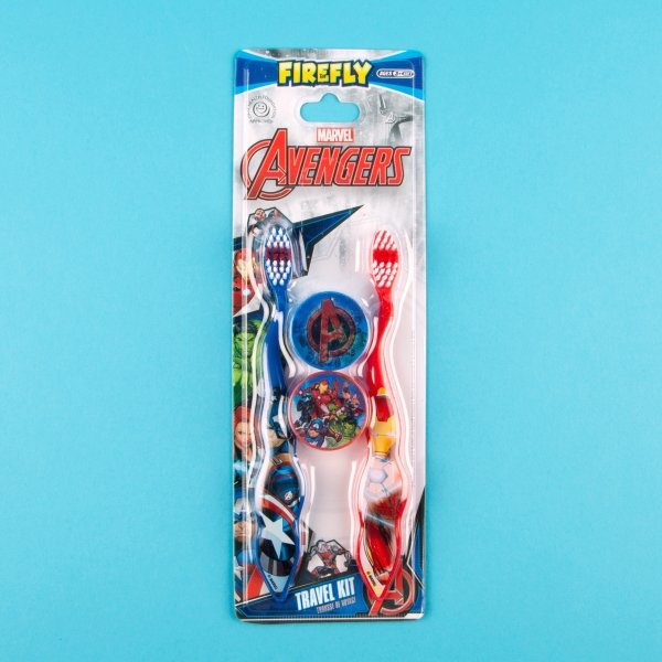 **NEW** Kids' Avengers Toothbrushes with Travel Caps 2pk