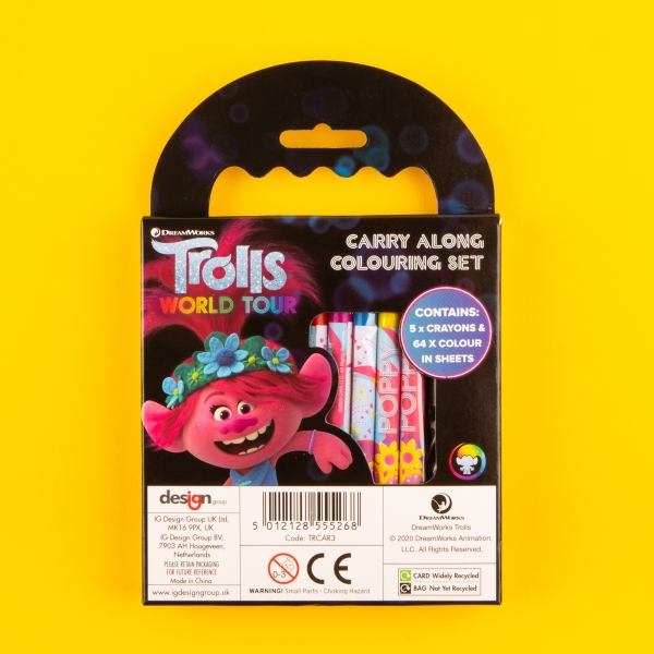 **NEW** Trolls 2 Carry-Along Colouring Set
