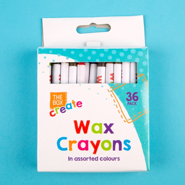 Wax Colouring Crayons 36pk