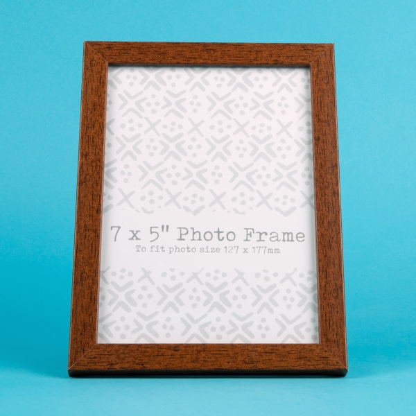 "Wood Effect Photo Frame 7x5"" - Dark"