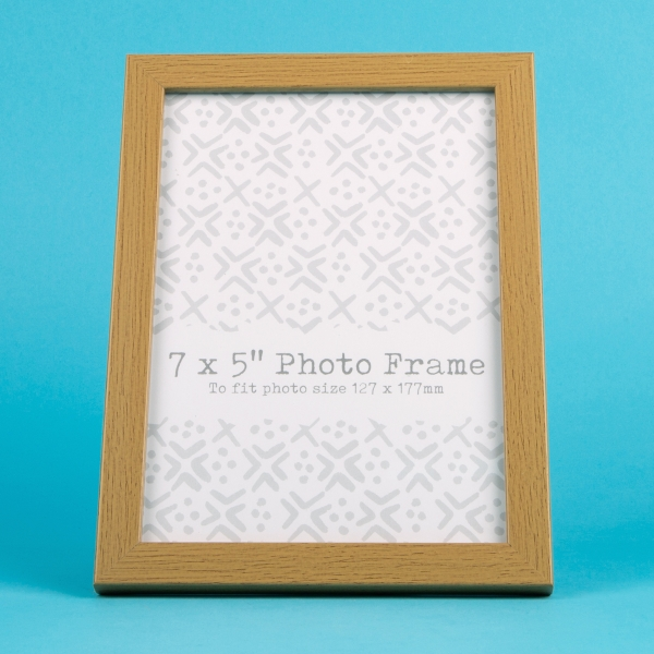 "Wood Effect Photo Frame 7x5"" - Pale"