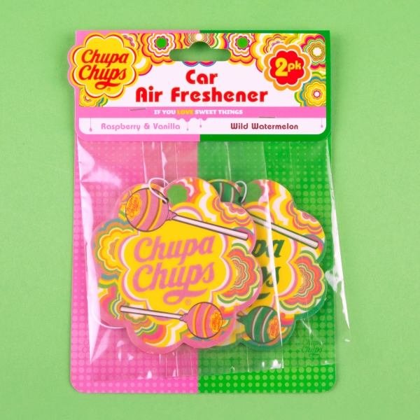 **NEW** Chupa Chups Car Air Fresheners 2pk - Raspberry & Vanilla + Watermelon