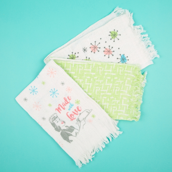 **NEW** Cotton Tea Towels 3pk - Made with Love