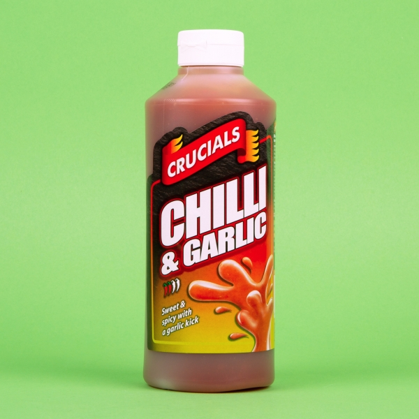 **NEW** Crucials Squeezy Sauce 500ml - Chilli and Garlic