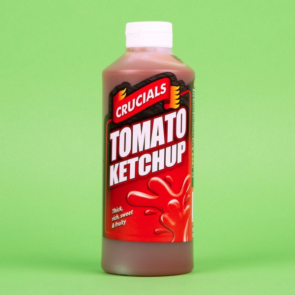 **NEW** Crucials Squeezy Sauce 500ml - Tomato Ketchup