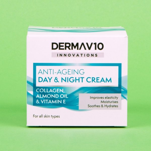 **NEW** Derma V10 Anti-Aging Day & Night Cream with Collagen 50ml