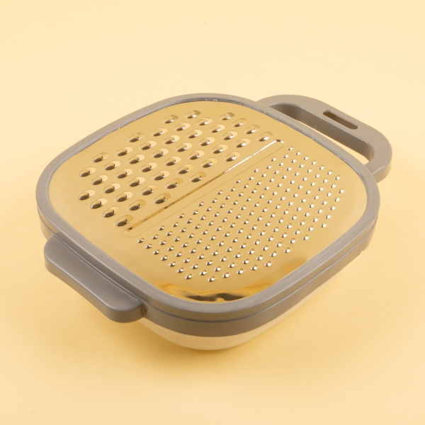 **NEW** Easy Grip Food Grater & Container - Grey