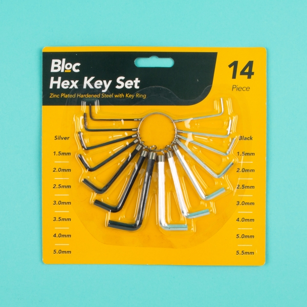 **NEW** Essential Hex Key Set 14pcs