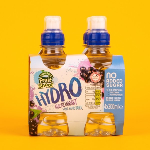 **NEW** Fruit Shoot Hydro Blackcurrant Spring Water 4pk