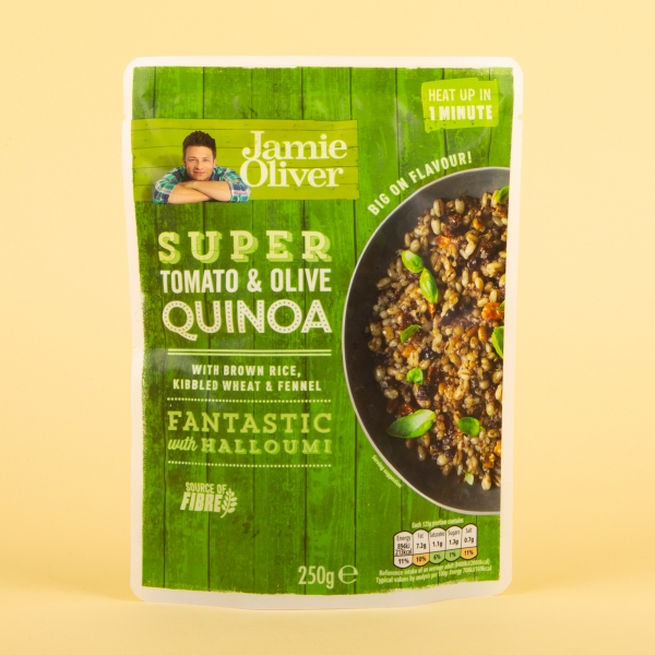 **NEW** Jamie Oliver Microwave Tomato and Olive Quinoa 250g