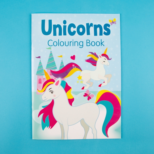 **NEW** Kids' Unicorn Colouring Book - Blue