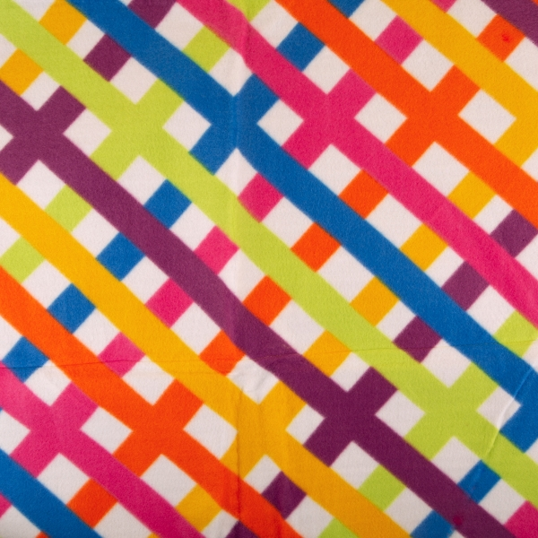 **NEW** Large Picnic Blanket - Rainbow Plaid