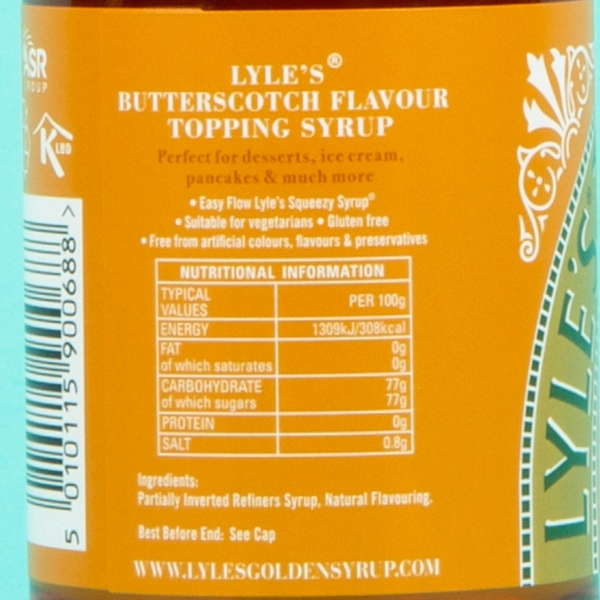 **NEW** Lyle's Squeezy Butterscotch Syrup 325g