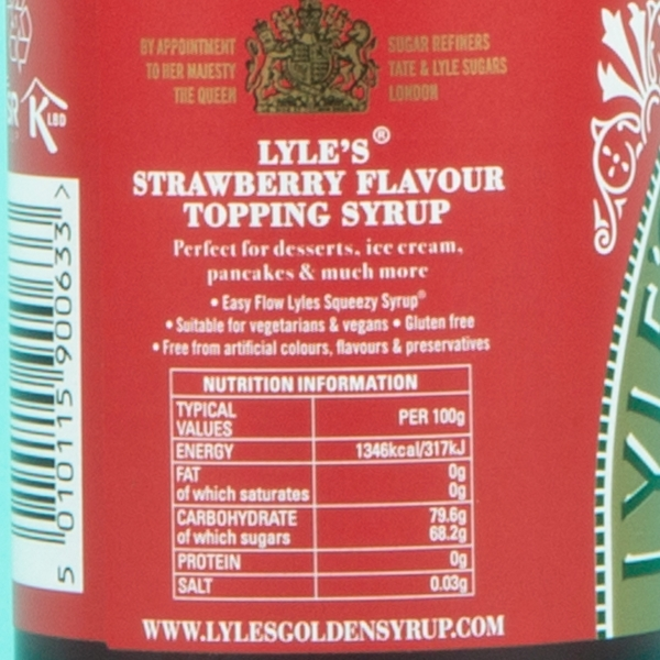 **NEW** Lyle's Squeezy Strawberry Syrup 325g