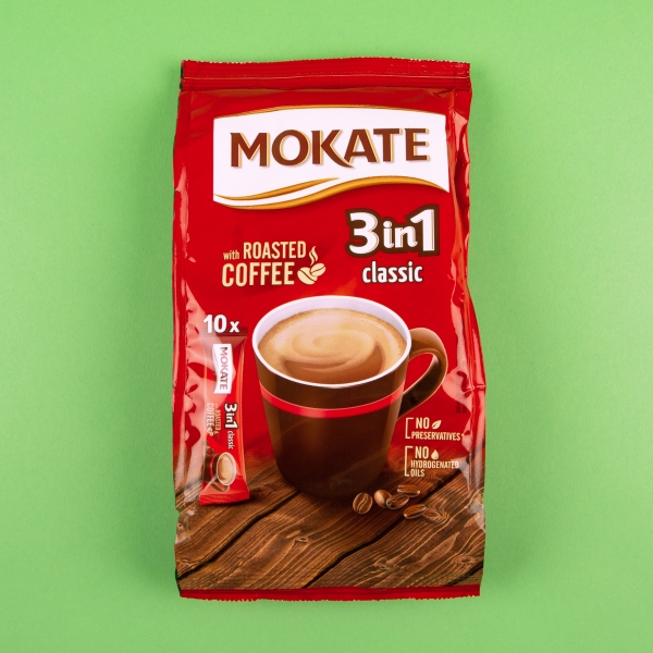 **NEW** Mokate 3-in-1 Instant Classic Coffee 10pk