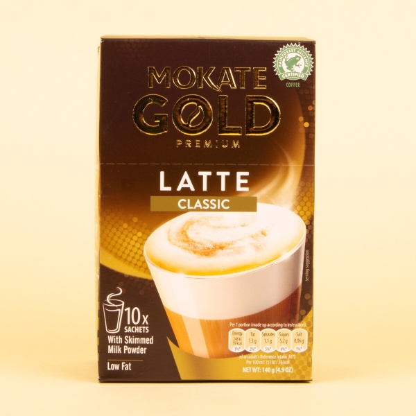 **NEW** Mokate Gold Instant Coffee 10pk - Classic Latte