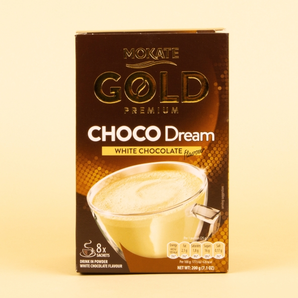 **NEW** Mokate Gold Instant Coffee 8pk - Dream White Chocolate