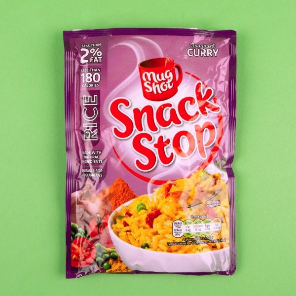 **NEW** Mug Shot Snack Stop Instant Rice 100g - Curry