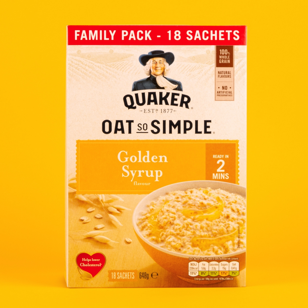 **NEW** Quaker Oat So Simple Golden Syrup Sachets 18pk
