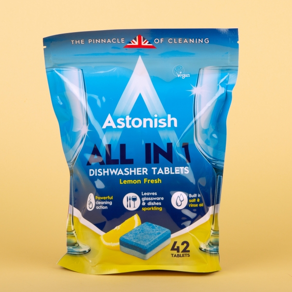 **NEW** Astonish All in 1 Dishwasher Tablets 42pk