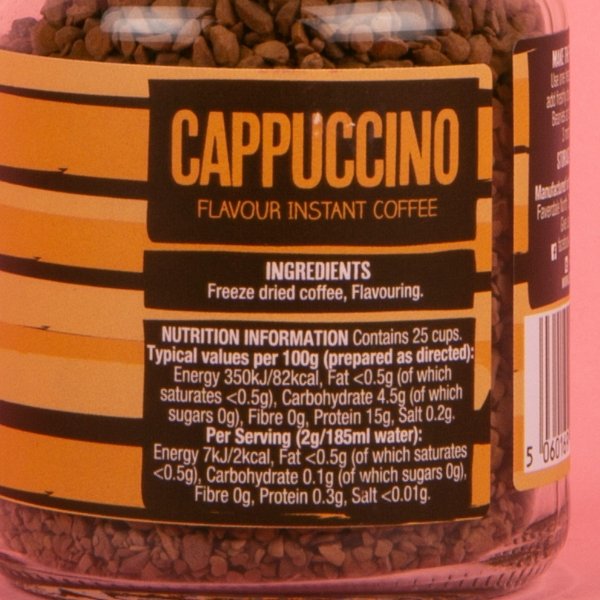 **NEW** Beanies Barista Instant Coffee Granules 50g - Cappuccino