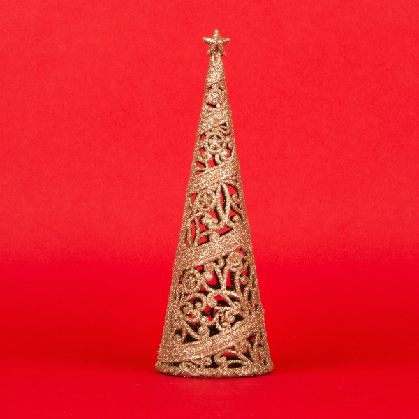 **NEW** Christmas Tree Decoration 24cm - Rose Gold