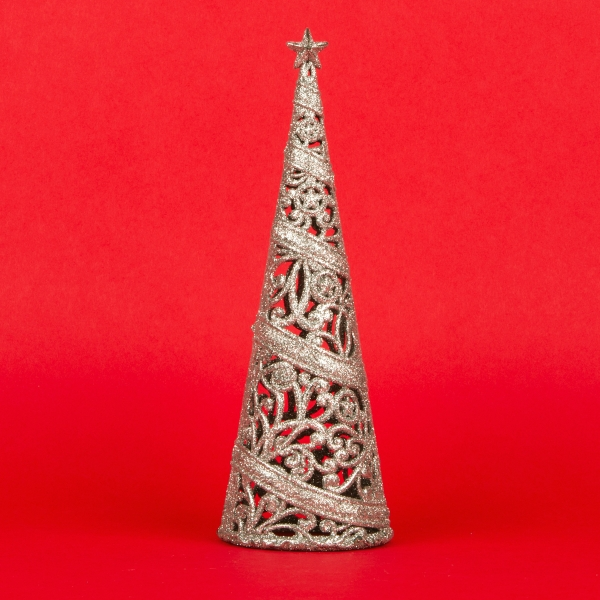 **NEW** Christmas Tree Decoration 24cm - Silver