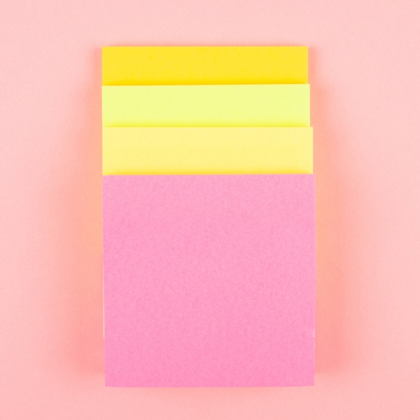 **NEW** Coloured Sticky Note Pads 4pk - Bright