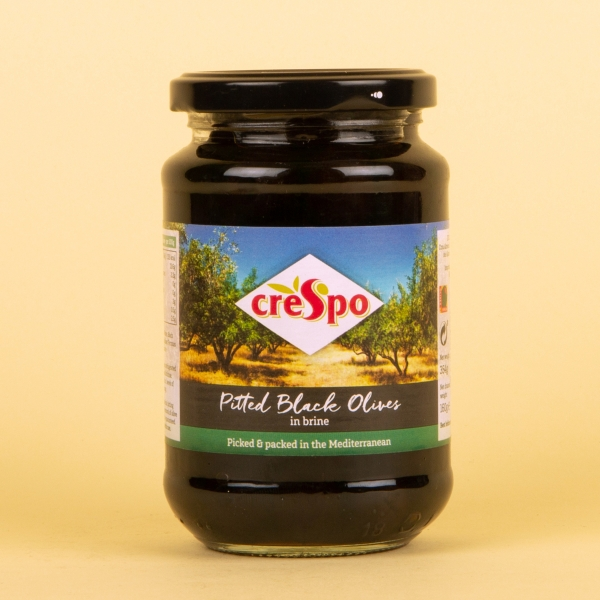 **NEW** Crespo Pitted Black Olives in Brine 354g