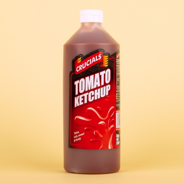 **NEW** Crucials Squeezy Sauce 1L - Tomato Ketchup