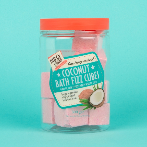 **NEW** Dirty Works Fizzy Coconut Bath Cubes 300g