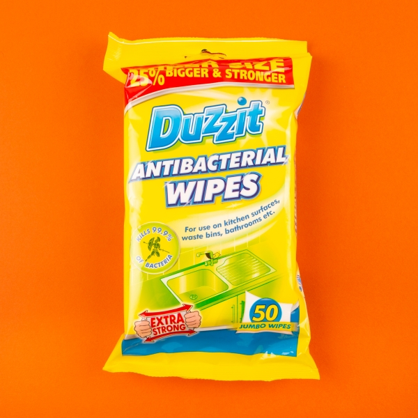 **NEW** Duzzit Antibacterial Cleaning Wipes 50pk