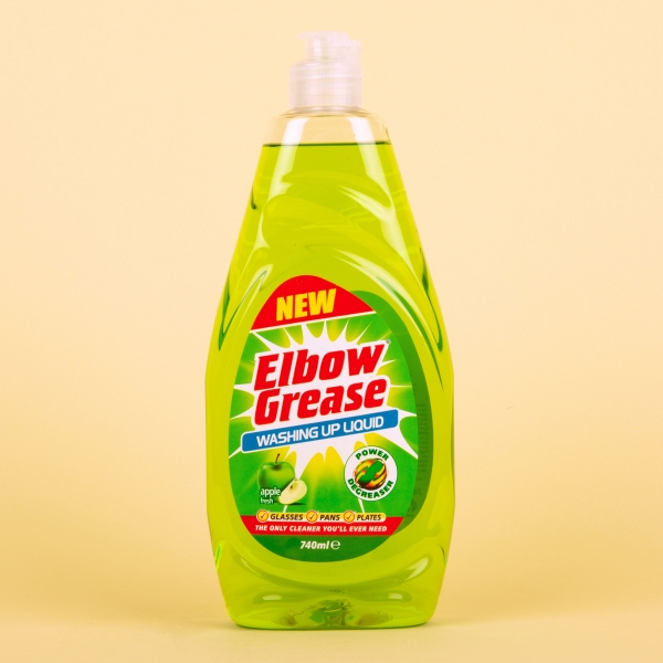 **NEW** Elbow Grease Washing Up Liquid 740ml - Apple
