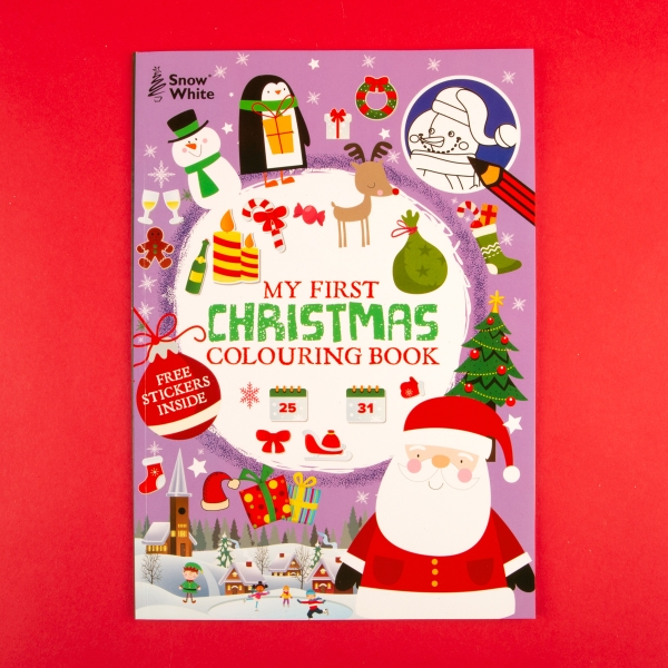 **NEW** Extra Large Kids' Christmas Colouring Book - Santa