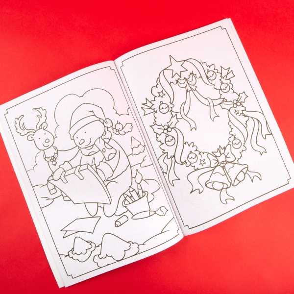 **NEW** Extra Large Kids' Christmas Colouring Book - Snowman