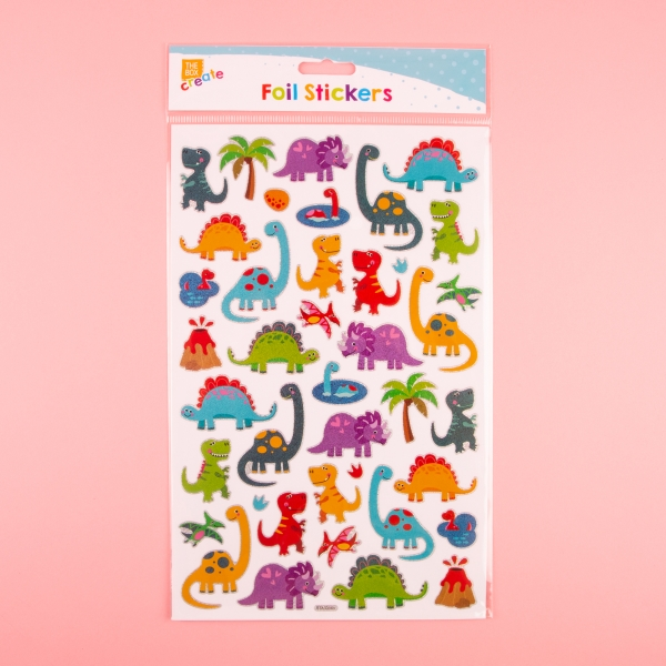 **NEW** Foil Holographic Sticker Sheet - Dinosaurs