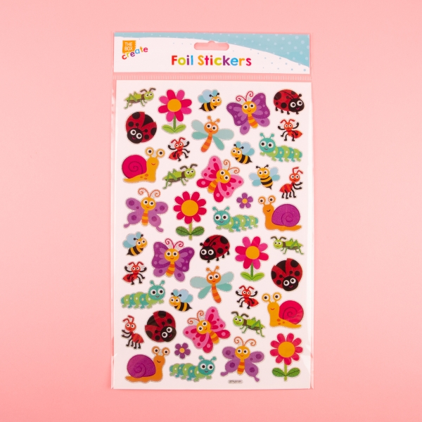 **NEW** Foil Holographic Sticker Sheet - Insects