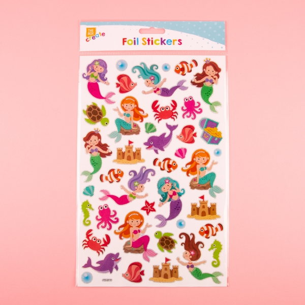 **NEW** Foil Holographic Sticker Sheet - Mermaids