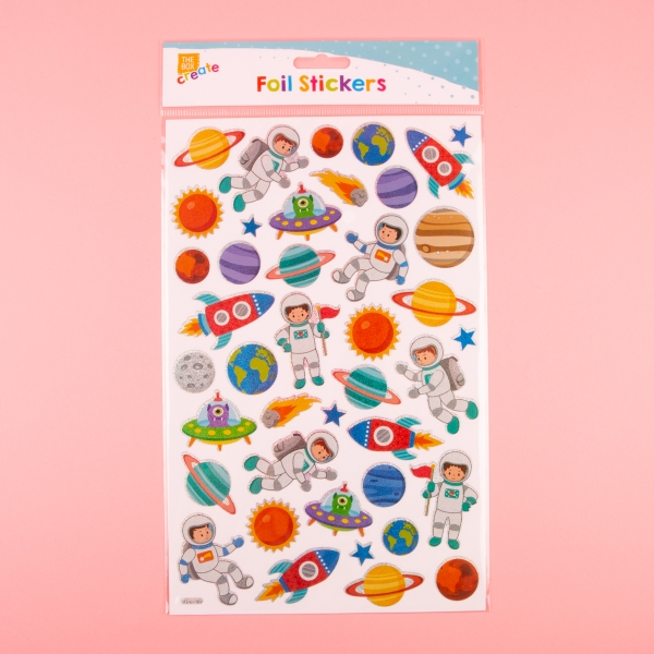**NEW** Foil Holographic Sticker Sheet - Space